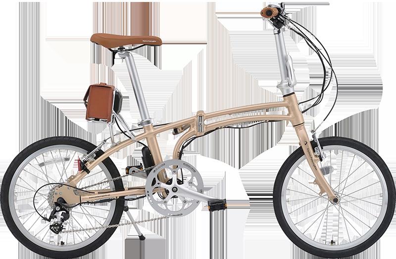 電動アシスト自転車に見えない!折りたたみ式「DE01」